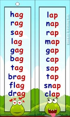 am wordlist - FREE Printable Bookmark / Key Ring word list. Ideal for phonics practice. Phonics Reading, Teaching Phonics, Phonics Activities, Reading Comprehension, Learning English For Kids, English Lessons For Kids, English Phonics, English Vocabulary Words, Jolly Phonics