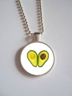 Avocado Necklace // Avacado lover dome Necklace by FemmeArchist, $12.99