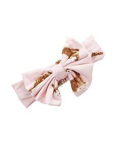 The Princess Pea Pink & Brown Rabbit Bow Headband | zulily