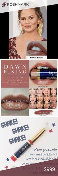 "Dawn Rising LipSense LipSense in ""Dawn Rising"" waterproof lipstick. Join my Facebook group for makeup tips: My Lip Gloss Be Poppin' LipSense Makeup Lipstick"