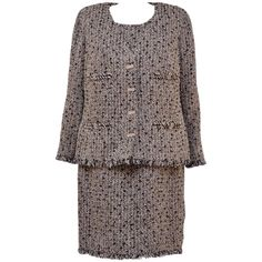 CHANEL Haute Couture Tweed Dress With Matching Jacket