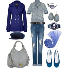 """""""Winter Blue"""" by angela-windsor on Polyvore"""
