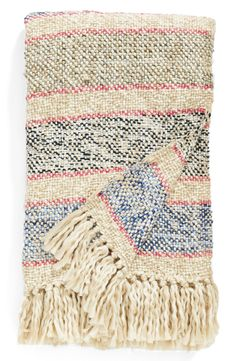 Love cozying up with a good book and this ultra-soft striped throw blanket.