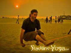 Slackline yoga? Must try this....