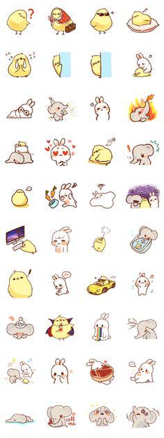 Stickers animals 562x1500 px