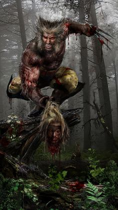 Wolverine vs. Sabretooth by John Gallagher