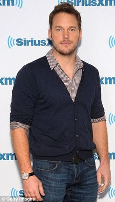 Baby love: Chris Pratt, pictured on Wednesday, discussed the premature birth of his son Ja...