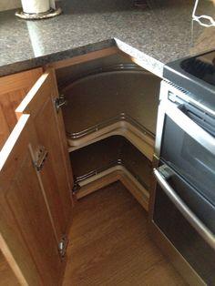 Corner kitchen cabinet remodel. Lazy Susan.