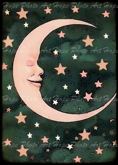 vintage moon postcard - Google Search