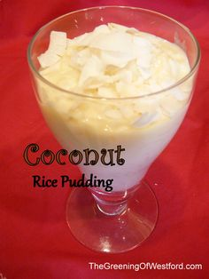 Combine traditional Armenian rice pudding with a modern flavor - coconut. Coconut Rice pudding is delicious!