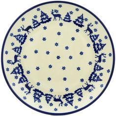 Polish Pottery 10-inch Plate | Boleslawiec Stoneware | Polmedia H1726H | Polmedia