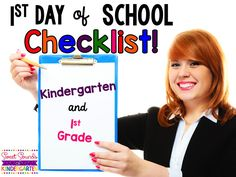 "Sweet Sounds of Kindergarten : First Day of School- a ""Working"" Checklist!"