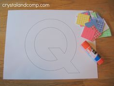 letter q letter of the week preschool crafts: q is for quilt Preschool Letter Crafts, Alphabet Letter Crafts, Abc Crafts, Alphabet For Kids, Daycare Crafts, Preschool Curriculum, Classroom Crafts, Alphabet Activities, Preschool Learning
