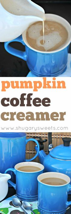 If you love coffee house drinks, you've got to try making this easy, Homemade Pumpkin Spice Coffee Creamer! Just a few ingredients and it's ready to enjoy!
