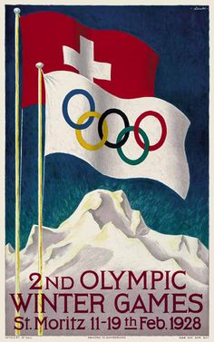 Official logo for the 1928 winter Olympic games in St. Moritz