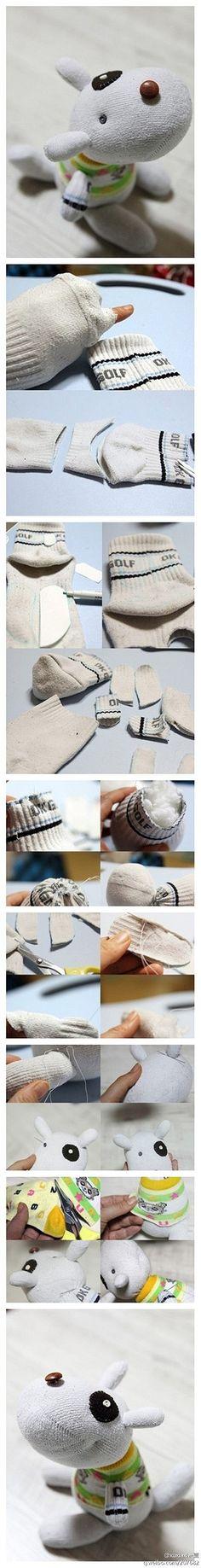 Ein Meisterwerk der Hand faule Socken - Socken-Puppen