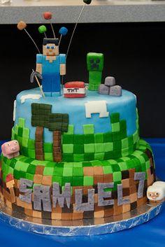 Pink Bluebonnet: Minecraft Cake
