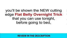 Flat Belly Overnight Review - Is it a Scam or Legit?