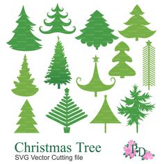 Christmas Tree SVG, svg file, .svg, cutting files, svg cut files, Vector EPS Cutting file Digital Die Cut Xmas Noel Cricut EasyPrintP