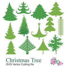 Christmas Tree SVG, svg file, .svg, cutting files, svg cut files, Vector EPS Cutting file Digital Die Cut Xmas Noel Cricut EasyPrintP