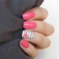 Striping Tape Nail Art: Nagelkunst-Trends für 2019 - Make-up Fancy Nails, Love Nails, Gorgeous Nails, Pretty Nails, Amazing Nails, Striping Tape Nail Art, Nagel Hacks, Nagellack Design, Spring Nail Art