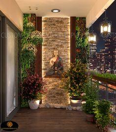 Living Room Partition Design, Pooja Room Door Design, Room Partition Designs, Foyer Design, Home Room Design, Small Balcony Design, Small Balcony Garden, Small Balcony Decor, Apartment Balcony Decorating