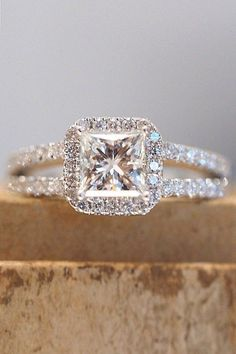 Princess cut wedding