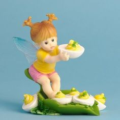 Enesco My Little Kitchen Fairies Fairie Eating Deviled Eggs Figurine, 4-Inch by Enesco, http://www.amazon.com/dp/B0030HOJA2/ref=cm_sw_r_pi_dp_4QAdrb1SVY2SS