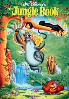 the Jungle Book. It's Disney, I'll take it. This was also the last film that Walt Disney personally was involved in. Disney Pixar, Film Disney, Disney Animation, Animation Movies, Disney Mural, Love Movie, Movie Tv, Retro Video, Book Posters