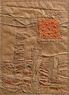 Sunrise Stitched Paper ACEO by Sojourn Quilts, via Flickr
