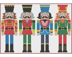 Nutcracker Counted Cross Stitch Pattern von HornswoggleStore