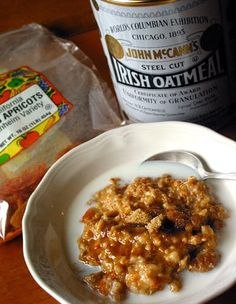 When we gave away those Crock-Pot Versaware slow cookers, we asked readers what they would make in their slow cooker. Reader Louie C said that she would make overnight oatmeal with buttermilk and apricots. Well, at least two readers immediately wanted the recipe! We adore steel-cut oats too, so when Louie C kindly gave us the recipe we tested and ate it twice. Here it is, for your morning oatmeal enjoyment!