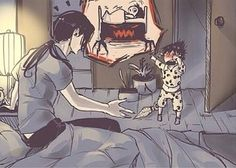 Can we just take a moment? T-T I am so saaaaad ... Itachi and baby Sasuke... Itachi is such a good big brother :3