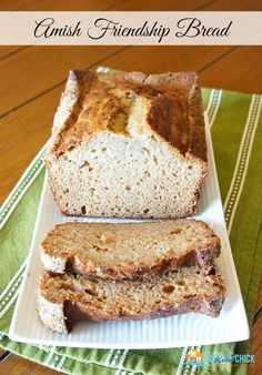 Amish Friendship Bread Recipe - with the Amish Friendship Bread STARTER instructions!