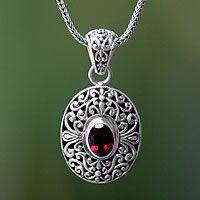 Garnet pendant necklace, 'Scarlet Beauty' from @NOVICA, They help #artisans succeed worldwide.