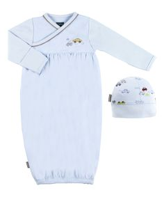Love this Blue Bedtime Stories Surplice Gown & Beanie - Preemie & Infant by Kushies on #zulily! #zulilyfinds