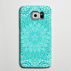 Teal Green Floral Tribal Turquoise Galaxy s6 Edge Plus Case Galaxy s6 s5 Case Samsung Galaxy Note 5 4 3 Phone Case s6-050