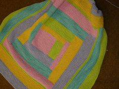 Four Colour Log Cabin Baby Blanket pattern by Haley Waxberg