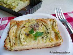 Tartă Dukan cu brânză şi dovlecei