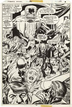 Eternals Annual page 23 Comic Art
