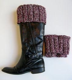 Boot toppers - wool tweed