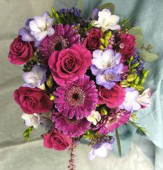 Hot Pink and Lavendar Bouquet Gordon Florist Baltimore Wedding Bouquets, Wedding Flowers, Baltimore, Special Day, Hot Pink, Floral Wreath, Wreaths, Decor, Wedding