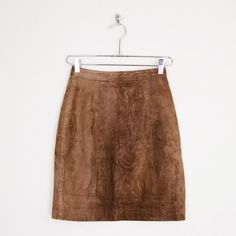 vintage 80s SUEDE leather HIGH WAIST PENCIL bodycon MOTORCYCLE biker mini skirt XS $38.00