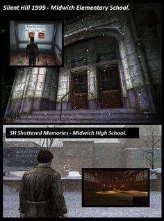 Silent Hill - Midwich School - Parallel Between Silent Hill 1999 and Silent Hill Shattered Memories 2009