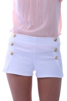White Sailor Shorts.