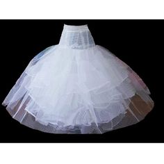 Women White Full Length Big Non Hoop Petticoats Tutu Skirt Slips SKU-2010141
