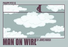 Man on Wire (2008) - Minimal Movie Poster by Claudia Varosio #minimalmovieposter #alternativemovieposter #claudiavarosio