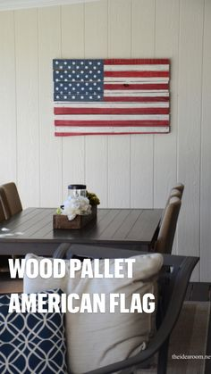 Pallet Crafts, Pallet Projects, Wood Crafts, Diy Projects, Patriotic Crafts, July Crafts, American Flag Pallet, Diy Ideas, Craft Ideas