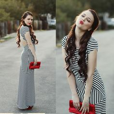 Get this look: http://lb.nu/look/4444575  More looks by KayKay Blaisdell: http://lb.nu/kaykayblaisdell  Items in this look:  Nasty Gal Striped Dress