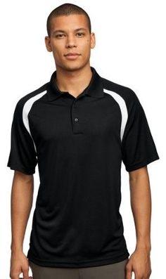 Sport-Tek Men's Dry Zone Colorblock Raglan Polo XS Black/White [Apparel]